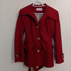 Red Calvin Klein Coat